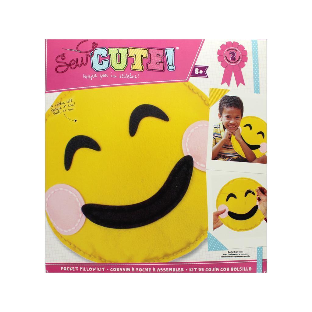Colorbok Sew Cute Kit Pocket Pillow Emoji Smile (Sewing K...