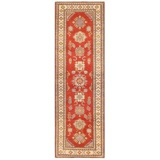 Herat Oriental Afghan Hand-knotted Vegetable Dye Kazak Wool Runner (2'9 x 8'9)