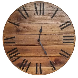 Oak Finished Wood Handmade Urban Oversized Wall Clock