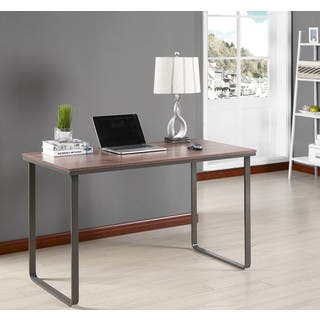 K and B Furniture Co. Inc. Brown/Grey Wood/Metal Desk|https://ak1.ostkcdn.com/images/products/15282474/P21751614.jpg?impolicy=medium