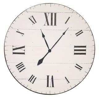 White Farm to Home Handmade Oversized Wall Clock