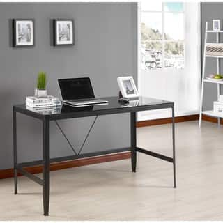 K and B Furniture Co Inc Metal and Glass Desk|https://ak1.ostkcdn.com/images/products/15282477/P21751615.jpg?impolicy=medium