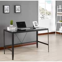 K and B Furniture Co Inc Metal and Glass Desk