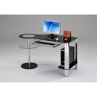 K and B Furniture Co Inc Chrome/Black Desk|https://ak1.ostkcdn.com/images/products/15282481/P21751617.jpg?impolicy=medium