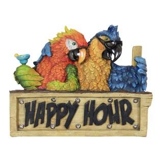 Exhart Solar Happy Hour Parrot Marquee