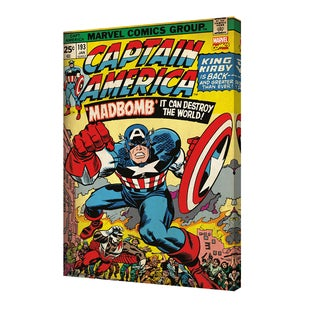 Captain America #193' Stretched Canvas 24-inch x 36-inch Wall Art by Pyramid America