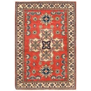 Herat Oriental Afghan Hand-knotted Vegetable Dye Kazak Wool Rug (3'3 x 4'8)