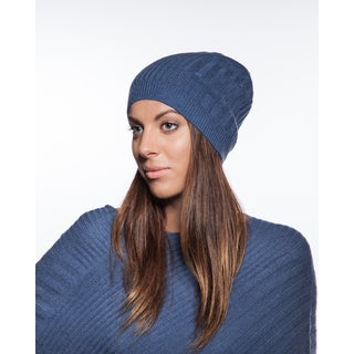 Women's Cashmere Ribbed Pattern Beanie