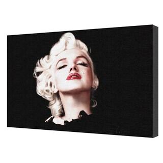 Marilyn Monroe 'Eyes Shut' 24-inch x 36-inch Canvas Wall Art by Pyramid America