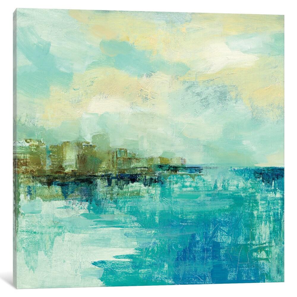 iCanvas Cliff Side Town by Silvia Vassileva Canvas Print ...