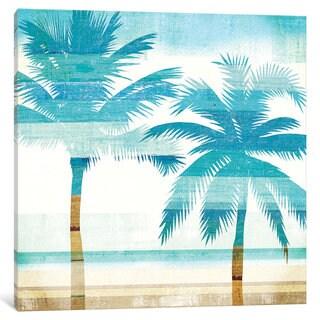 iCanvas Beachscape Palms III by Michael Mullan Canvas Print
