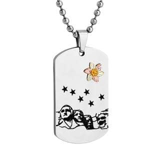Black Hills Gold on Stainless Steel Mt Rushmore Dog Tag Pendant|https://ak1.ostkcdn.com/images/products/15282626/P21751778.jpg?impolicy=medium