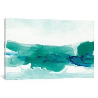 iCanvas 'Teal Coast II' by June Erica Vess Canvas Print