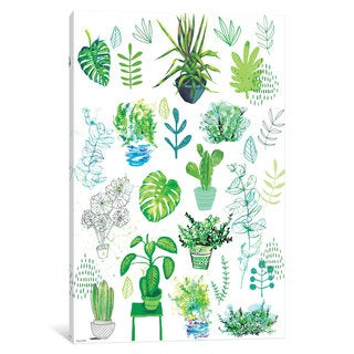 iCanvas 'All My Plants' by Sweet William Canvas Print