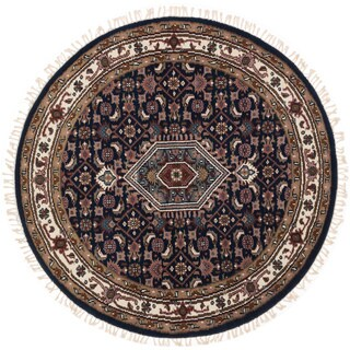 eCarpetGallery Royal Heriz Blue Wool Hand-knotted Round Rug - 5'1 x 5'1