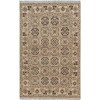eCarpetGallery Hand-knotted Eternity Ivory Wool Rug (5' x 7'11)