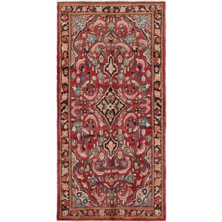 eCarpetGallery Mahal Red Hand-knotted Wool Rug - 3'10 x 7'5