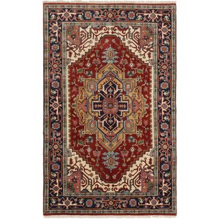 eCarpetGallery Serapi Heritage Red Wool Hand-knotted Area Rug (4'11 x 7'11)