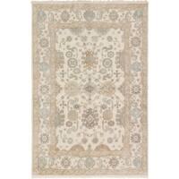 eCarpetGallery Royal Ushak Ivory Wool Hand-knotted Rug (5'10 x 8'6)