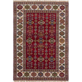 eCarpetGallery Royal Kazak Red Wool Hand-knotted Rug (5'3 x 7'5)