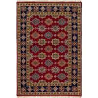 eCarpetGallery Royal Kazak Red Wool Hand-knotted Rug (5'3 x 7'6)
