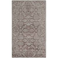eCarpetGallery Hand-Knotted Eternity Brown Bamboo Silk Rug (4'9 x 7'9)