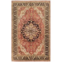 eCarpetGallery Serapi Heritage Brown Wool Hand-knotted Rug - 6'1 x 9'2