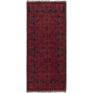 eCarpetGallery Finest Khal Mohammadi Red Wool Hand-knotted Rug - 2'9 x 6'2