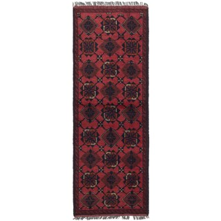 eCarpetGallery Finest Khal Mohammadi Brown Wool Hand-knotted Rug - 1'9 x 4'10