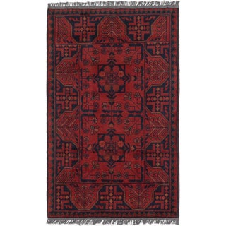 eCarpetGallery Finest Khal Mohammadi Red Wool Hand-knotted Rug (2'6x4')