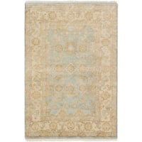 eCarpetGallery Hand-knotted Royal Ushak Blue Wool Rug (4' x 5'11)