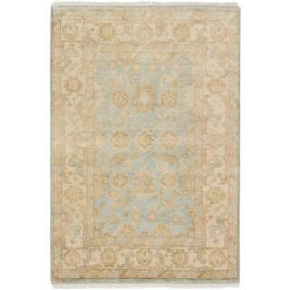 eCarpetGallery Hand-knotted Royal Ushak Blue Wool Rug - 4' x 5'11
