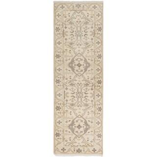 eCarpetGallery Royal Ushak Ivory Wool Hand-knotted Area Rug - 2'7 x 7'11