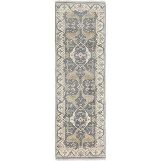 eCarpetGallery Royal Ushak Grey Hand-knotted Wool Rug (2'7 x 8'1)