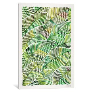 iCanvas 'Tropical Leaves IV' by Cat Coquillette Canvas Print