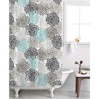 Grey And Turquoise Shower Curtain. Famous Home Charlotte Shower Curtain Curtains For Less  Overstock com Vibrant Fabric Bath