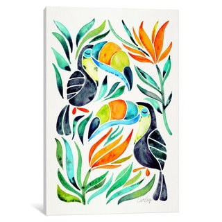 iCanvas 'Colorful Toucans I' by Cat Coquillette Canvas Print