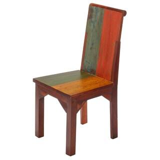 Handmade Dynasty Reclaimed Wood High Back Dining Chair (Bali)