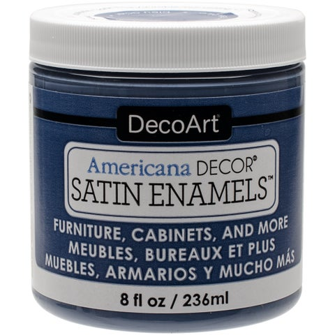Decoart Americana Decor Satin Enamels 8oz Stl Blue