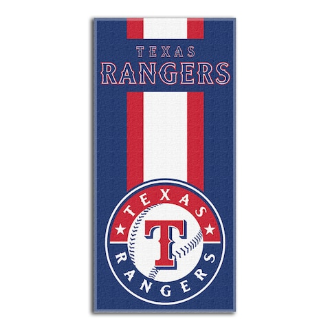 MLB 720 Rangers Zone Beach Towel - Blue/White