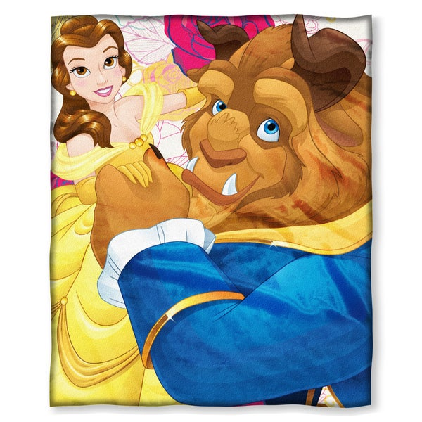 "Beauty and The Beast "" Dancing Flowers Belle"" Throw"