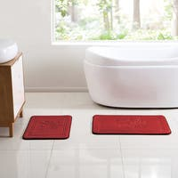 VCNY Home Poinsettia Memory Foam Bath Rug set