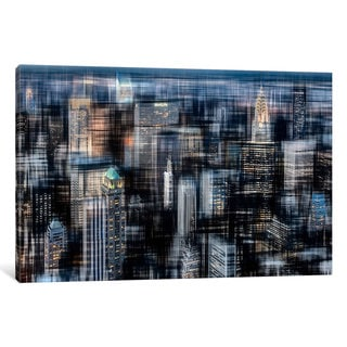 iCanvas 'Downtown At Night' by Hannes Cmarits Canvas Print