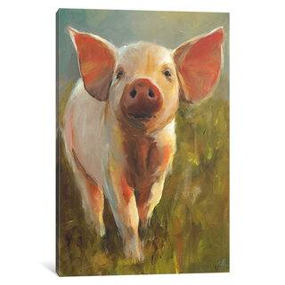 iCanvas 'Morning Pig' by Cari J. Humphry Canvas Print