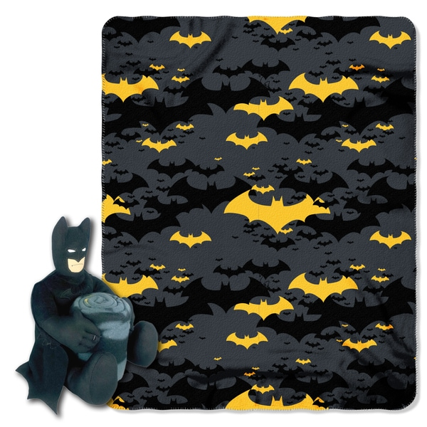 Shop Batman Black Night Throw with Plush Toy - Free Shipping On Orders Over   45 - Overstock.com - 15283105 dc35534f9
