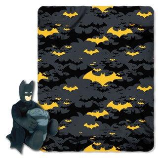 Batman Black Night Throw with Plush Toy