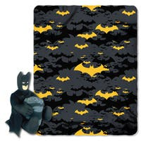 Batman  Black Night Throw with Plush Toy