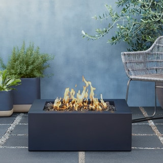 Santos Outdoor Circular Propane Fire Pit Table With Tank
