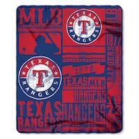 MLB 031 Rangers Strength Fleece Throw