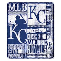 MLB 031 Royals Strength Fleece Throw